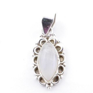 58703-05 SILVER 925 PENDANT 23 X 12 MM WITH MOONSTONE STONE