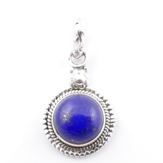 58704-02 SILVER 925 PENDANT 26 X 15 MM WITH LAPIS LAZULI STONE