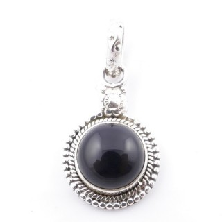 58704-04 SILVER 925 PENDANT 26 X 15 MM WITH ONYX STONE