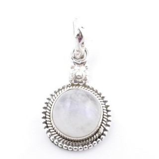 58704-05 SILVER 925 PENDANT 26 X 15 MM WITH MOONSTONE STONE