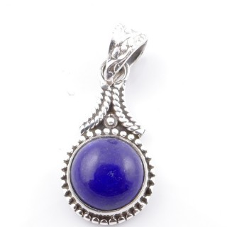 58705-02 SILVER 925 PENDANT 25 X 14 MM WITH LAPIS LAZULI STONE