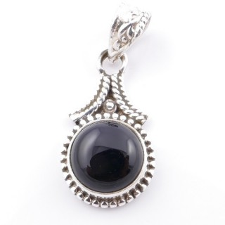 58705-04 SILVER 925 PENDANT 25 X 14 MM WITH ONYX STONE