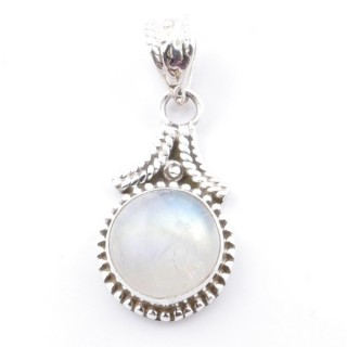 58705-05 SILVER 925 PENDANT 25 X 14 MM WITH MOONSTONE STONE
