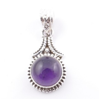58705-06 SILVER 925 PENDANT 25 X 14 MM WITH AMETHYST STONE