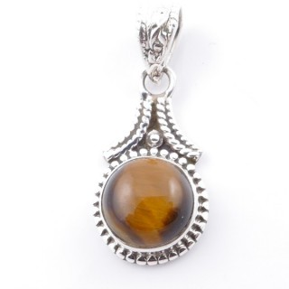 58705-11 SILVER 925 PENDANT 25 X 14 MM WITH TIGER'S EYE STONE