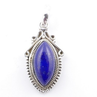 58706-02 SILVER 925 PENDANT 30 X 14 MM WITH LAPIS LAZULI STONE
