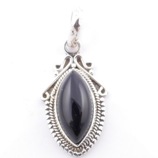 58706-04 SILVER 925 PENDANT 30 X 14 MM WITH ONYX STONE