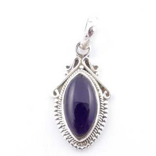 58706-06 SILVER 925 PENDANT 30 X 14 MM WITH AMETHYST STONE