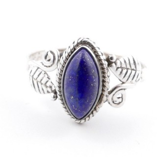 58615-16 STERLING SILVER 13 X 8 MM RING WITH LAPIS LAZULI SIZE 16