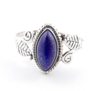 58615-17 STERLING SILVER 13 X 8 MM RING WITH LAPIS LAZULI SIZE 17