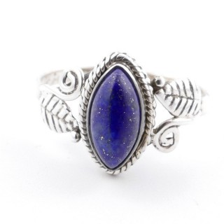 58615-19 STERLING SILVER 13 X 8 MM RING WITH LAPIS LAZULI SIZE 19