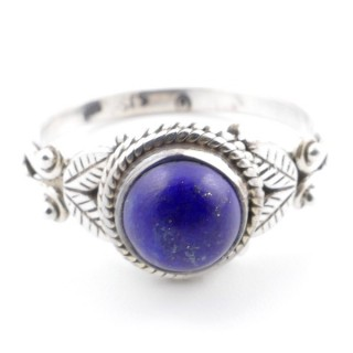 58626-17 STERLING SILVER 10 MM RING WITH LAPIS LAZULI SIZE 17