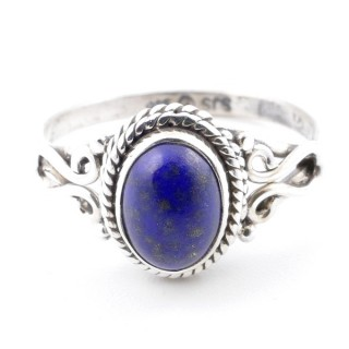 58637-16 STERLING SILVER 11 X 9 MM RING WITH LAPIS LAZULI SIZE 16