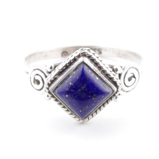 58648-17 STERLING SILVER 11 MM RING WITH LAPIS LAZULI SIZE 17