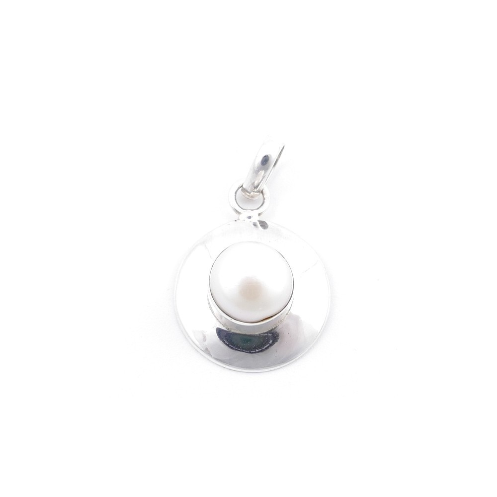 58708 STERLING SILVER AND PEARL 23 X 18 MM PENDANT