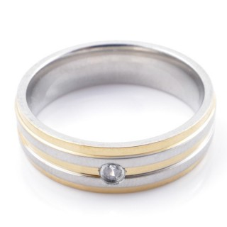 49118 PACK 10 STAINLESS STEEL RINGS IN ASSORTED SIZES. WIDTH: 6 MM