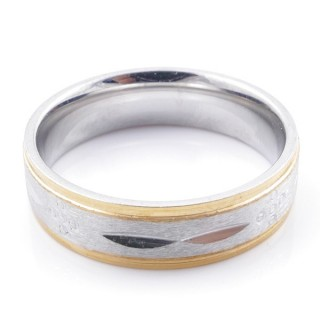 49114 PACK 10 STAINLESS STEEL RINGS IN ASSORTED SIZES. WIDTH: 6 MM