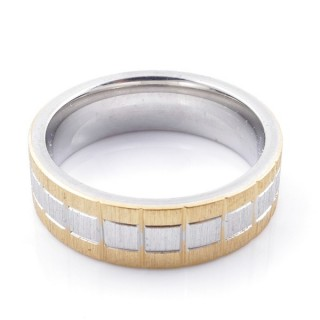 49115 PACK 10 STAINLESS STEEL RINGS IN ASSORTED SIZES. WIDTH: 6 MM