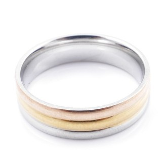 49126 PACK 10 STAINLESS STEEL RINGS IN ASSORTED SIZES. WIDTH: 6 MM
