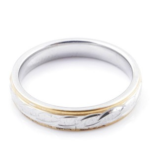 49112 PACK 10 STAINLESS STEEL RINGS IN ASSORTED SIZES. WIDTH: 4 MM