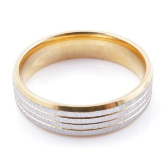 49113 PACK 10 STAINLESS STEEL RINGS IN ASSORTED SIZES. WIDTH: 6 MM