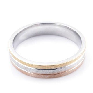 49124 PACK 10 STAINLESS STEEL RINGS IN ASSORTED SIZES. WIDTH: 5 MM