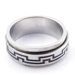 49130 PACK 10 STAINLESS STEEL RINGS IN ASSORTED SIZES. WIDTH: 8 MM