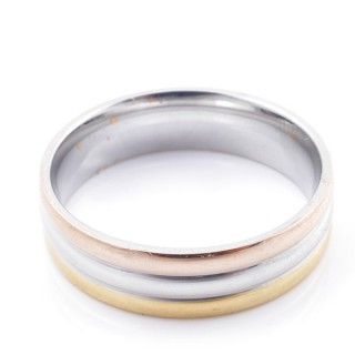 49125 PACK 10 STAINLESS STEEL RINGS IN ASSORTED SIZES. WIDTH: 6 MM