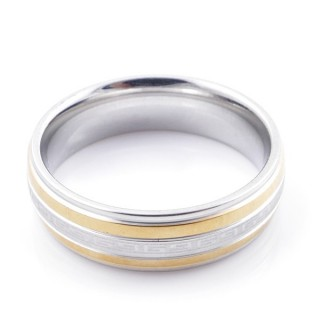 49111 PACK 10 STAINLESS STEEL RINGS IN ASSORTED SIZES. WIDTH: 6 MM