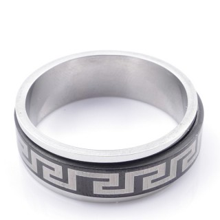 49122 PACK 10 STAINLESS STEEL RINGS IN ASSORTED SIZES. WIDTH: 8 MM