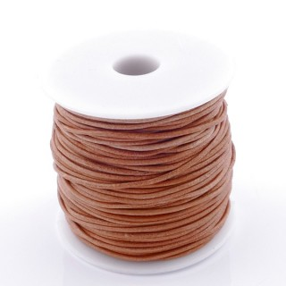 38765-03 ROLL OF 45 METERS OF 1 MM ROUND CAMEL COLOURED LEATHER