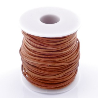 38766-03 ROLL OF 45 METERS OF 1,5 MM ROUND CAMEL COLOURED LEATHER