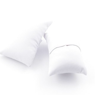 36375 PACK OF 12 WHITE PU LEATHER DISPLAY PILLOWS 3 X 8 X 5 CM