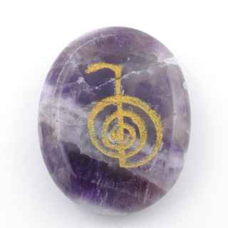 37664-05 OVAL 34 X 23 MM AMETHYST STONE WITH CHO KU REI SYMBOL