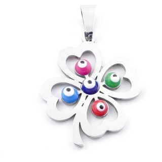 39181-12 STAINLESS STEEL 28 X 24 MM PENDANT WITH EVIL EYE