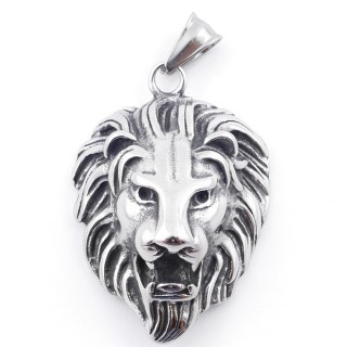 49292-05 LION SHAPED 43 X 30 MM STAINLESS STEEL PENDANT