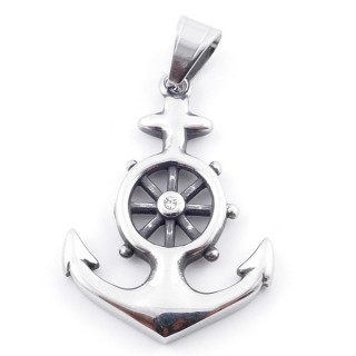 49292-22 ANCHOR SHAPED 43 X 32 MM STAINLESS STEEL PENDANT