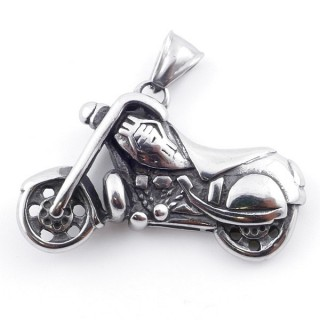 49292-23 MOTORCYCLE SHAPED 27 X 43 MM STAINLESS STEEL PENDANT