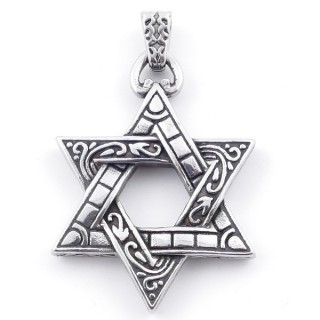 49292-24 STAR OF DAVID SHAPED 50 X 37 MM STAINLESS STEEL PENDANT