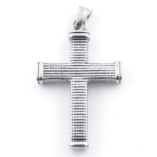 49292-25 CROSS SHAPED 54 X 34 MM STAINLESS STEEL PENDANT