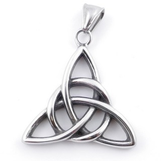 49292-26 TRIQUETRA SHAPED 36 X 35 MM STAINLESS STEEL PENDANT