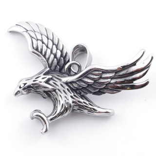 49292-36 EAGLE SHAPED 40 X 51 MM STAINLESS STEEL PENDANT