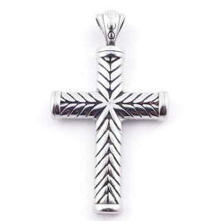 49292-40 CROSS SHAPED 50 X 28 MM STAINLESS STEEL PENDANT