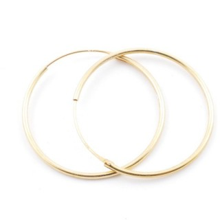 5217500 STERLING SILVER 30 MM X 1,2 MM HOOP EARRINGS WITH GOLDEN PLATING