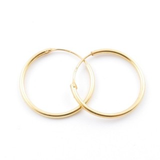 5217200 STERLING SILVER 18 MM X 1,2 MM HOOP EARRINGS WITH GOLDEN PLATING