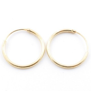 5217100 STERLING SILVER 16 MM X 1,2 MM HOOP EARRINGS WITH GOLDEN PLATING