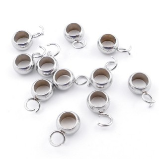 3869900 PACK OF 20 STAINLESS STEEL 6 MM LOOPS WITH OPEN JUMP RINGS