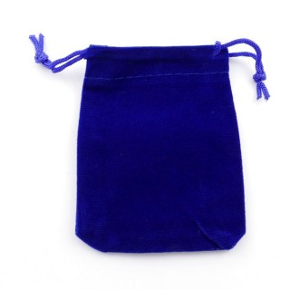 49284-02 PACK OF 50 BLUE VELVET 7 X 9 CM BAGS