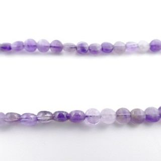 40983 40 CM STRING OF 6 MM FACETED BEADS IN AMETHYST
