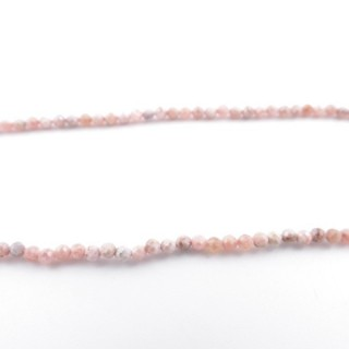 41362 40 CM STRING OF 2 MM FACETED BEADS IN RHODOCROSITE